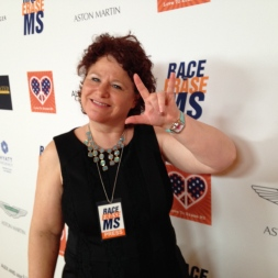Getting ready to help inform others about the newest research in MS via social media is our member, Louise Sattler of 411 Voices Influential Network