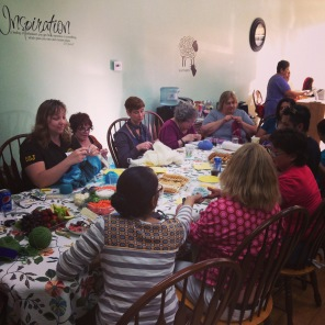 Great fun with knitters from all over the South Bay at Maddie Made It in Rolling Hills, CA